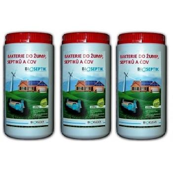 Bioseptik bakterie do žump, septiků a ČOV 3x1 kg
