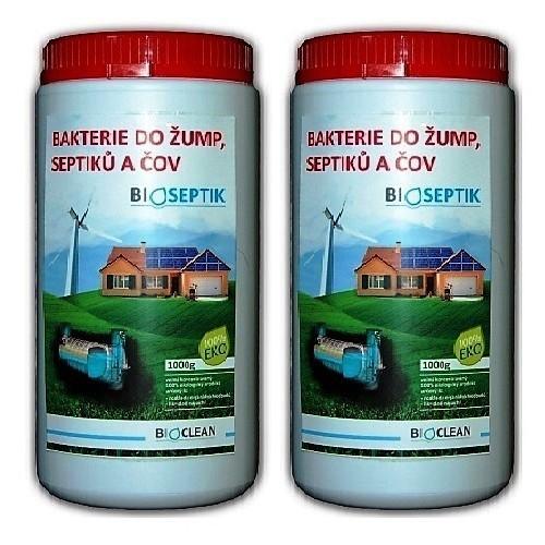 Bioseptik bakterie do žump, septiků a ČOV 2x1 kg