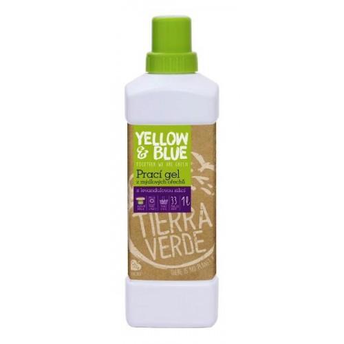 Tierra Verde prací gel z mýdlových ořechů s levandulovou silicí 1 l