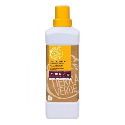 Tierra Verde gel do myčky na nádobí z mýdlových ořechů s BIO pomerančovou silicí 1 L